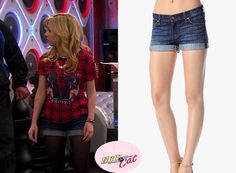 Sam Puckett (Jennette McCurdy) wears this7 For all mankind Roll up Short in Nouveau New York Dark in the episode of Sam & Cat #PeezyB.  ** Check out my website for the full post www.allaboutsamandcat.com