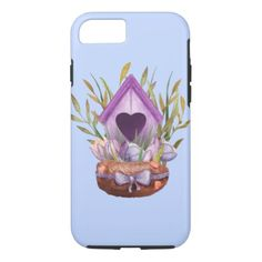 Beautiful  watercolor spring nest iPhone 8/7 case - watercolor gifts style unique ideas diy