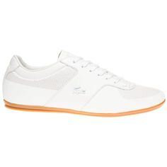c2df62fbb3ac Mens White Lacoste Turnier 116 1 Trainers at Soletrader - A slim rubber  outsole and archive thread nod to Lacoste s tennis heritage and the tonal  metal croc ...