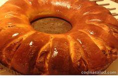 Vetekrans o bizcocho-corona sueca, muy parecido al Roscón de Reyes, umm, delicioso. www.cocinasalud.com