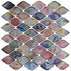 Aquatica Series Rainbow Trout Glass Mosaic Tile.