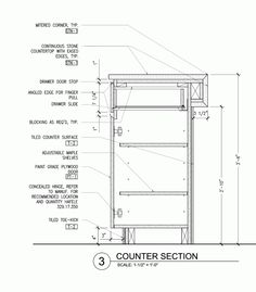 Bar counter detail drawing google search detale for General notes for residential architectural drawings
