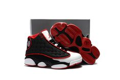 cheaper 711cd 9d3e5 New Arrival Kids Air Jordan 13 XIII Retro Black Red White Hot Sale Michael  Jordan Shoes