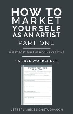 How to Market Yourself as an Artist | PART ONE - Wondering how to get your name out there as a new artist? Look no further! I'm sharing some tips I have for defining your niche, reaching your audience, and how to make money with your art! I've also included a free worksheet on defining your niche - click through to read the full post and download the worksheet! Business Marketing, Internet Marketing, Online Marketing, Inbound Marketing, Business Advice, Business Planning, Business Help, Craft Business, Creative Business