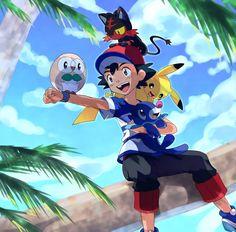 Ash in Pokemon Sun & Moon Ash Pokemon, Pikachu, Pokemon Ash Ketchum, Pokemon People, Pokemon Fan, Cute Pokemon, Sun Moon, Ash Sun And Moon, Images Kawaii