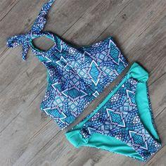 High Neck Type Bathing Suits Mesh Woman bikinis Summer Swimsuit