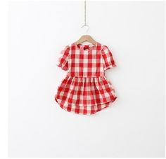 Girls Summer Picnic Dress in Navy or Red