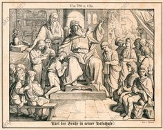 Karl der Große in seiner Hofschule