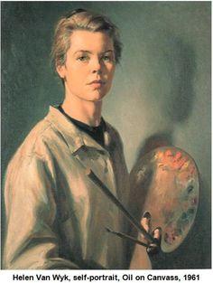 Helen Van Wyk self portrait. She's gone now, but I still watch her PBS shows.