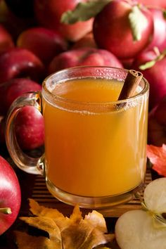 Warm apple spice juice... Heaven in a cup for those cold wintery days!! Juice fresh apples and ginger, warm in a pan and add a cinnamon stick or two..... Feeling cosy just thinking about it