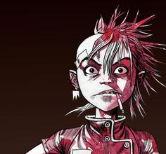 A 2013 Jamie Hewlett Tank Girl image, posted recently to Martins Facebook page