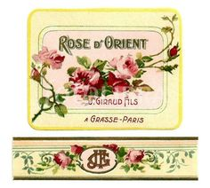 French Perfume Label and Wrapper. (French perfume label and wrapper from the late 19th century.)