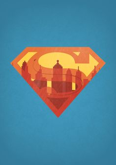 Superman (superhero sign poster series) | By: Alex Litovkas