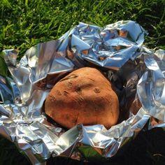 Gepofte zoete aardappel vd BBQ