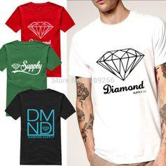 Summer Fashion Diamond Supply Co Men's t shirts Black white Cool diamond supply tshirt Unique Design Short Sleeve Man Top Shirts