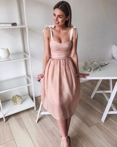 Design Solid Color Sexy Sleeveless Dress from clothing Dress Outfits, Fashion Dresses, Cute Outfits, Work Outfits, Pretty Dresses, Beautiful Dresses, Dress Skirt, Dress Up, Tie Front Dress