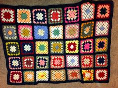 granny square joined with black