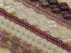 325 Czech Glass Purple Amethyst White Opal Pearl Assorted Color Bulk Mix Beads #PreciosaOrnela #BohemianPressedFirePolished