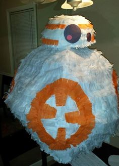 You need to make this Star Wars BB-8 DIY Pinata for your next party!