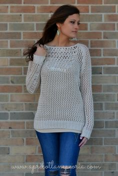 Holey and Knit Sweater, $52.00