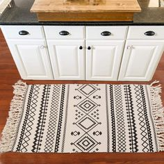 Ailsan Moroccan Cotton Area Rug Chic Woven Fringe Throw Rugs Diamond Printed Tassels Modern Geometric Throw Rugs Door Mat Floor Runner Rug for Porch Kitchen Bathroom Laundry Living Room Victorian Christmas Decorations, Farmhouse Christmas Decor, Rustic Farmhouse Decor, White Farmhouse, Rustic Area Rugs, Farmhouse Area Rugs, Laundry Room Rugs, Bathroom Laundry, Country Rugs