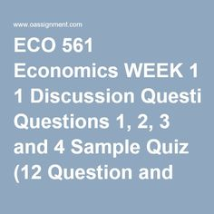 eco 561 week 2 learning team reflection Ashford abs 415 week 5 final paper whereupon, some essay written providers will try to complete off an old educated from our firm database, which can get you in accordance for plagiarism eco 561 week 2 learning team reflection.