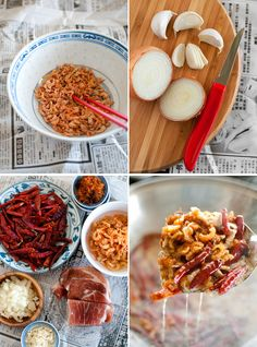 Homemade XO Sauce 2 cups vegetable oil 1 onion, diced finely 5 garlic cloves, minced 3 tablespoons shredded dried scallops 85g medium-sized dried shrimp 100g salted pork, diced finely 40 dried chillies 2 fresh long red chillies, deseeded and chopped finely ½ teaspoon salt