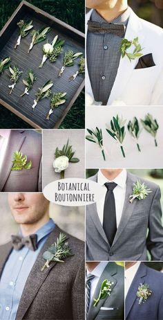 DIY stylish botanical groom boutonniere