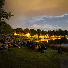 The best thing about August in Edinburgh is watching so much...just like these people in Inverleith Park tonight.