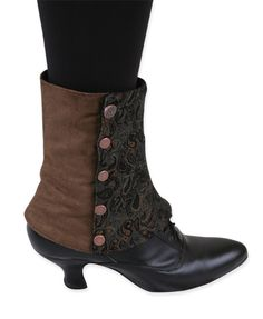 Historical Emporium Women's Steampunk Micro Fiber Suede Spats S Brown Paisley Steampunk Spats, Steampunk Fashion, Spats Shoes, Shoe Boots, Victorian Boots, Victorian Ladies, Wedding Boots, Steampunk Accessories, Boot Cuffs