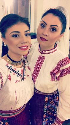 Costum popular Romanesc din Dobrogea Traditional Romanian costume from Dobrogea Hippy, Hungary, Romania, Ukraine, Ruffle Blouse, Costumes, Popular, Traditional, Beautiful