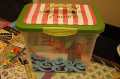 Happy Kit- a craft supply box, a Kappa Delta tradition at HPU! Super cute! Adorable Grand Big/Grand Little tradition to start!