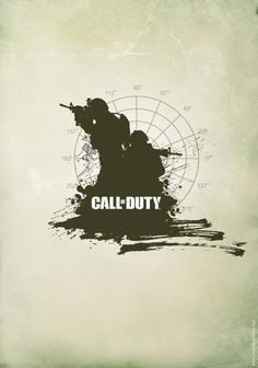 minimalist poster Call of Duty