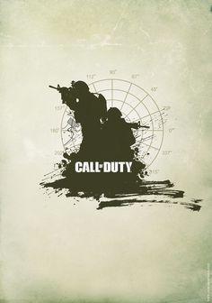minimalist poster Call of Duty