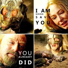 Theoden and Eowyn - this bit makes me want to cry
