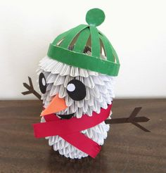 Diversion Showcase: Do you want to build a snowman? Build A Snowman, 3d Origami, Christmas Ornaments, Holiday Decor, Building, Home Decor, Make A Snowman, Xmas Ornaments, Homemade Home Decor