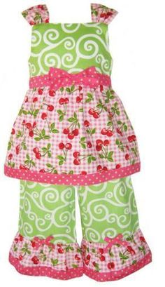 5008 Baby Glamour Cherry Picker Lime Green and Pink Cherry 2 Piece Set  $39.95  www.gugonline.com