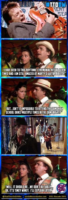 """Week 96 of #ThatTimeOnDrWho goes Back to the Future! Produced weekly by Brent Kincade for Word of the Nerd Online! """"Delta and the Bannermen"""" (McCoy/7) #BackToTheFutureDay #BackToTheFuture #DoctorWho #Sylvester McCoy #Marty McFly #Michael J. Fox"""