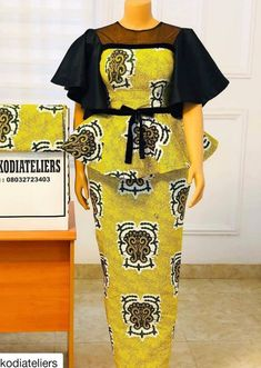 Kente Dress, Ankara Skirt And Blouse, African Fashion Skirts, African Wear Dresses, Slit And Kaba Styles, Couples African Outfits, Traditional Skirts, African Lace Styles, African Print Clothing