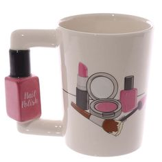 Nail Varnish Shaped Handle Ceramic Mug http://ift.tt/2dCydSV
