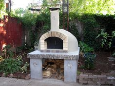 Outdoor pizza oven with details on how to make it.