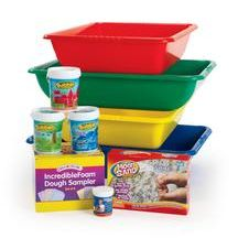 Sensory Center: Set up a spectacular sensory center for tactile exploration with everything you need to introduce children to sticky, soft, cool and grainy!