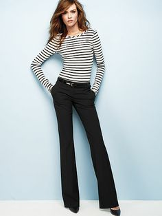 These pants are professional looking, but still stretchy enough to tumble! :-)