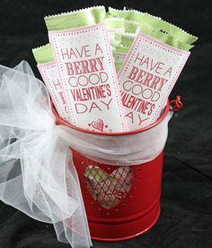 Kids Valentine's Fruit Strip Wrap | Free Printable