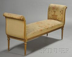 Louis XVI-style Giltwood and Aubusson Tapestry Upholstered W