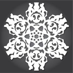 Downloadable patterns for Star Wars paper snowflakes!