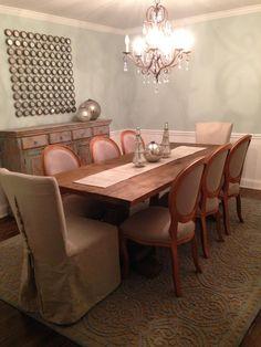 Palladian Blue Dining Room Arhaus Table