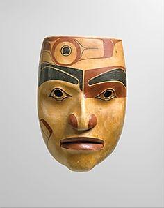 Portrait mask by Robert Davidson, ca.1977-78. Wood and pigment. Haida, BC, Canada   The Metropolitan Museum of Art
