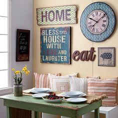 large kitchen decor. zulily debut  M Home Decor Dining Room Gallery Wall Idea wall ideas and