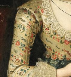 (detail) The portrait is thought to depict Vere Egerton, who married into the Booth family of Dunham in 1619. Vere was the granddaughter and potential heiress of the immensely wealthy Lord Chancellor Egerton, and this portrait marks the Booth family's social and political rise.